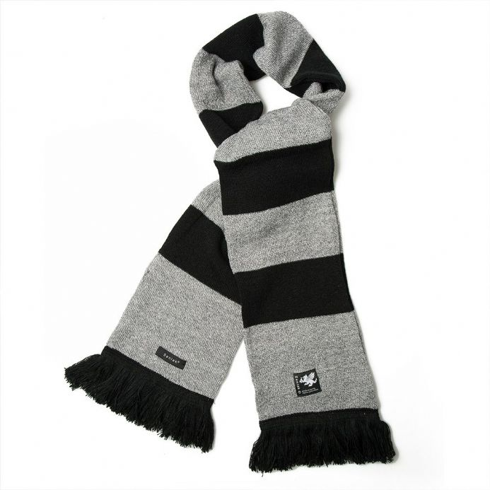 Senlak Knitted Striped Scarf with Anglo-Saxon design
